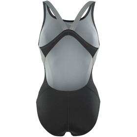 Nike Swim Poly Color Surge - Maillot de bain Femme - gris/noir